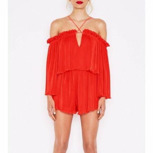 12128d658d2 Alice McCall Pants - RARE Alice McCall red playsuit romper